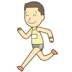 走る男性のイラスト